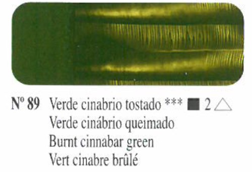 Venta pintura online: Oleo Verde cinabrio tostado nº89 serie 2