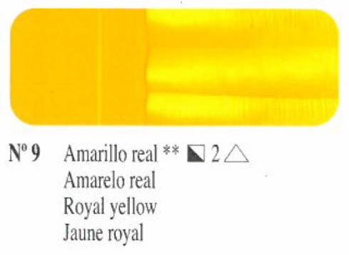 Venta pintura online: Oleo Amarillo real nº9 serie 2