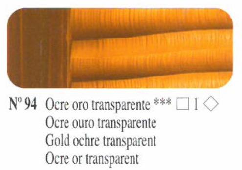 Venta pintura online: Oleo Ocre oro transparente nº94 serie 1