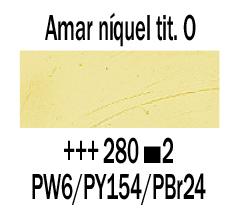 Venta pintura online: Óleo Amar. Niquel Titanato Osc. nº280 S.2