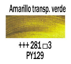 Venta pintura online: Óleo Amarillo Transp. Verde nº281 S.3