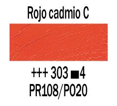 Venta pintura online: Óleo Rojo Cadmio Claro nº303 S.4