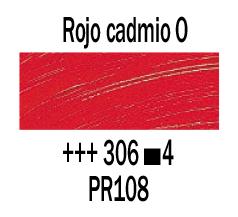 Venta pintura online: Óleo Rojo Cadmio Oscuro nº306 S.4
