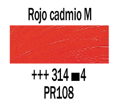Venta pintura online: Óleo Rojo Cadmio Medio nº314 S.4