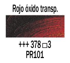 Venta pintura online: Óleo Rojo Óxido Transparente nº378 S.3
