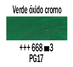 Venta pintura online: Óleo Verde Óxido de Cromo nº668 S.3