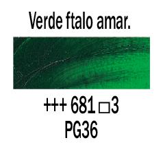 Venta pintura online: Óleo Verde Ftalo Amarillo nº681 S.3