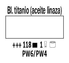 Venta pintura online: Óleo Blanco Titanio (Aceite Linaza) nº118 Serie 1