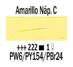 Venta pintura online: Óleo Amarillo Nápoles Claro nº222 Serie 1