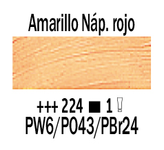Venta pintura online: Óleo Amarillo Nápoles Rojo nº224 Serie 1