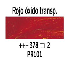 Venta pintura online: Óleo Rojo óxido Transparente nº378 Serie 2