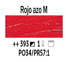 Venta pintura online: Óleo Rojo Azo Medio nº393 Serie 1