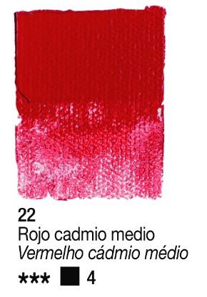 Venta pintura online: Acrílico Rojo Cadmio medio nº22 serie 4