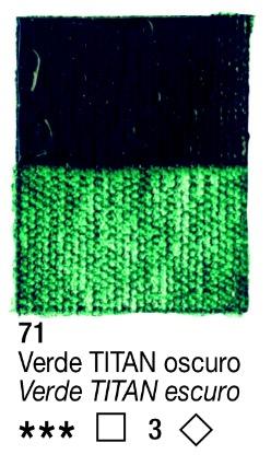 Venta pintura online: Acrílico Verde Titan Oscuro nº71 serie 3