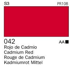Venta pintura online: Acrílico Goauche Rojo Cadmio (tono) 042