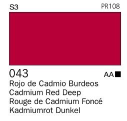 Venta pintura online: Acrílico Goauche Rojo de Cadmio Burdeos 043