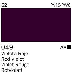 Venta pintura online: Acrílico Goauche Violeta Rojo 049