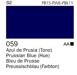 Venta pintura online: Acrílico Goauche Azul de Prusia ( tono) 059