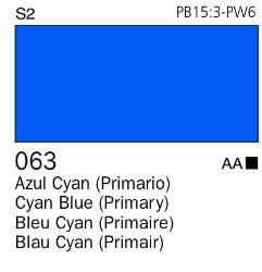 Venta pintura online: Acrílico Goauche Azul Cyan (Primario) 063