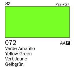 Venta pintura online: Acrílico Goauche Verde Amarillo 072