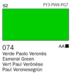 Venta pintura online: Acrílico Goauche Verde Paolo Verones 074