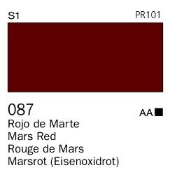 Venta pintura online: Acrílico Goauche Rojo de Marte 087
