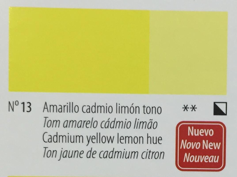 Venta pintura online: Acrílico Titan Goya Amarillo cadmio limón tono nº13