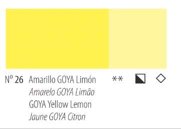 Venta pintura online: Acrílico Titan Goya Amarillo Goya limón nº26
