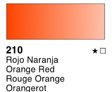 Venta pintura online: Acuarela liquida Rojo Naranja nº210