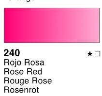 Venta pintura online: Acuarela liquida Rojo rosa nº240