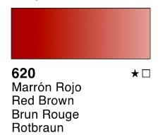 Venta pintura online: Acuarela liquida Marrón rojo nº620