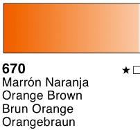 Venta pintura online: Acuarela liquida Marrón naranja nº670