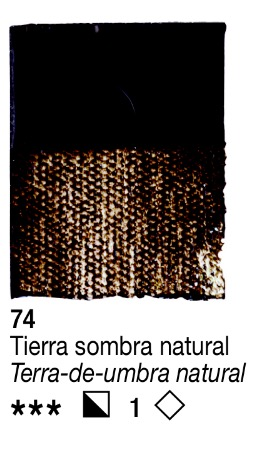 Venta pintura online: Acrílico Tierra Sombra Natural nº74 serie 1