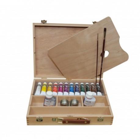 Venta pintura online: Caja 12 Acrílicos 20ml Mir
