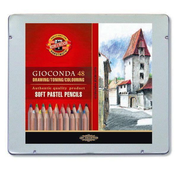 Venta pintura online: Caja 48 Lápices Pastel Gioconda Koh-i-noor
