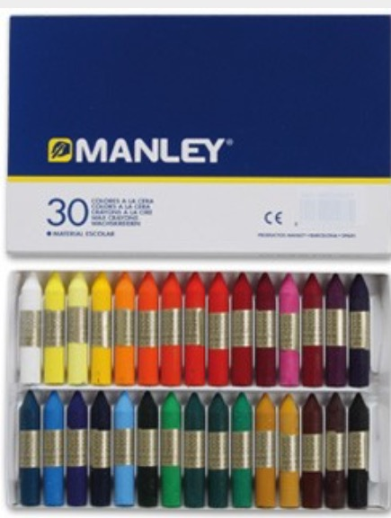 Venta pintura online: Caja cera Manley 30 colores