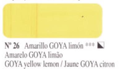 Venta pintura online: Óleo Amarillo Goya limón nº26