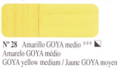 Venta pintura online: Óleo Amarillo Goya medio nº28