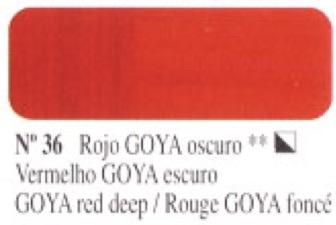 Venta pintura online: Óleo Rojo Goya oscuro nº36