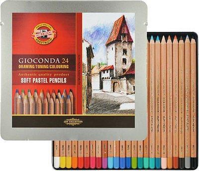 Venta pintura online: Caja 24 Lápices Pastel Gioconda Koh-i-noor
