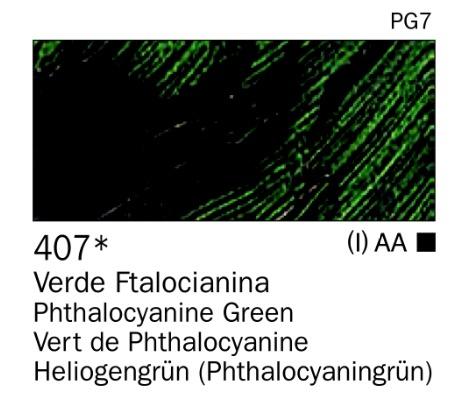 Venta pintura online: Acrilico Verde ftalocianina nº407