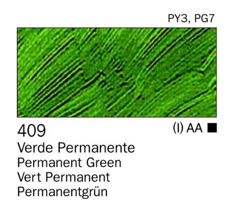 Venta pintura online: Acrilico verde permanente nº409