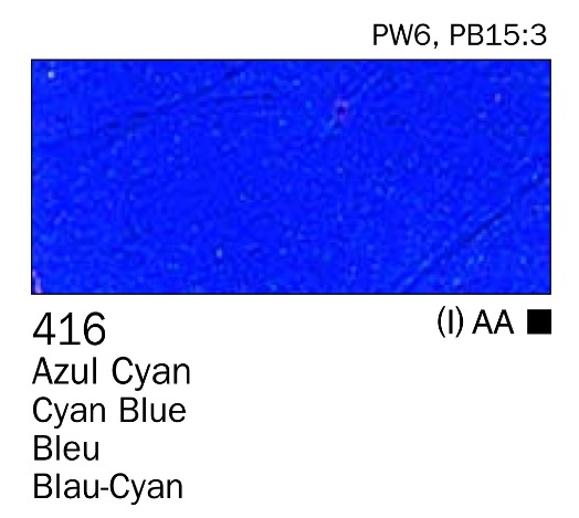 Venta pintura online: Acrilico Azul cyan nº416