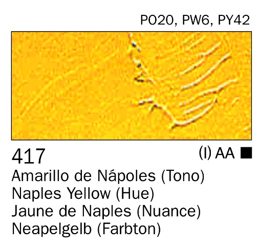 Venta pintura online: Acrilico Amarillo de Nápoles nº417
