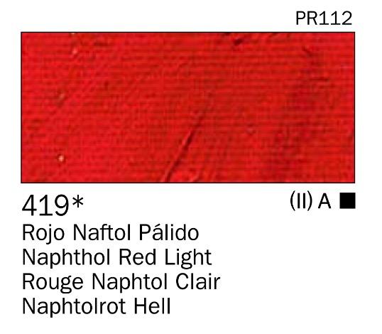 Venta pintura online: Acrilico Rojo naftol palido nº419