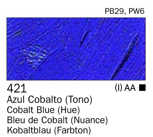 Venta pintura online: Acrilico Azul cobalto (tono) nº421