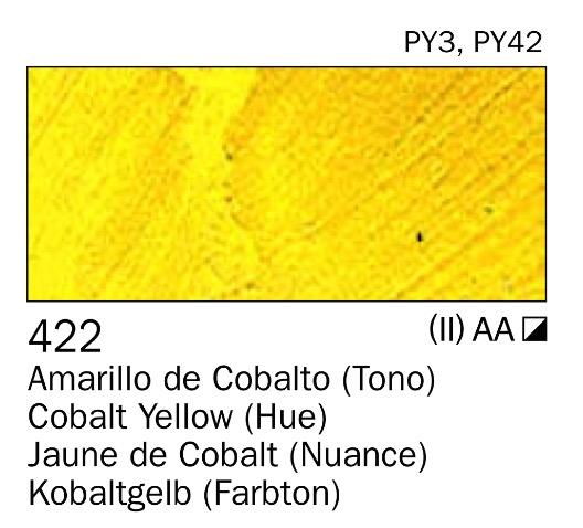 Venta pintura online: Acrilico Amarillo de cobalto (tono) nº422