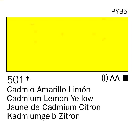 Venta pintura online: Acrilico Amarillo cadmio limón nº501