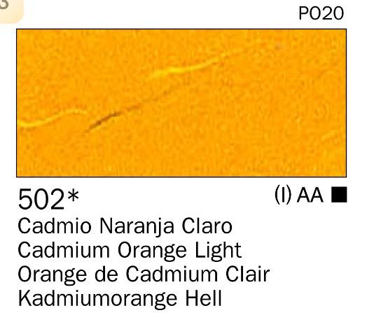 Venta pintura online: Acrilico Naranja cadmio claro nº502
