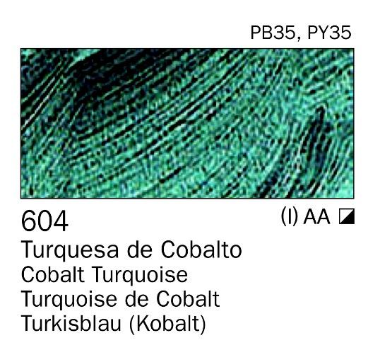 Venta pintura online: Acrilico Turquesa de cobalto nº604